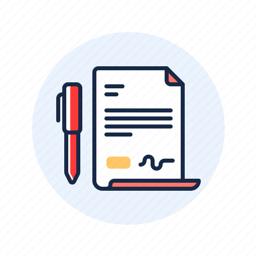 contract, deal, letter, signature icon