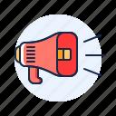 advertisement, communication, marketing, megaphone icon