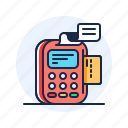 credit card, payment, pos, receipt icon