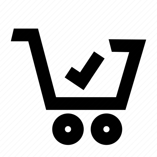 cart, checkout, complete, grocery, shopping icon