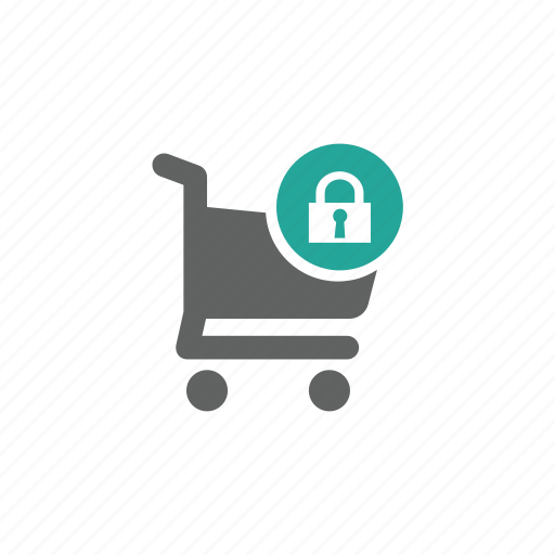 cart, lock, password, security, shopping, shopping cart icon