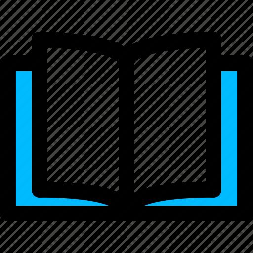 books, ebook, library, open, read icon