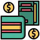 bill, dollar, payment, shopping, wallet icon