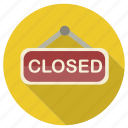 closed, shopping, sign icon