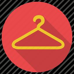 cloth, hanger, shopping icon