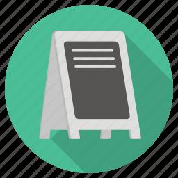 black board, board, list, menu, shopping icon