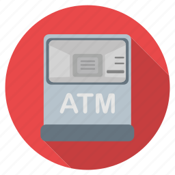 atm, bank, cash, machine, money, payment, shopping icon