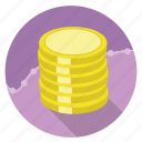 dollar, e-commerce, finance, gold, money, shopping, wealth icon