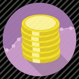 e-commerce, gold, money, shopping, wealth icon