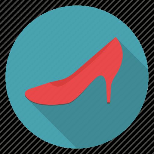 fashion, shoe, shopping, woman icon