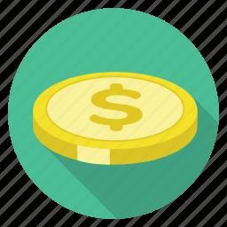 coin, dollar, money, shopping icon