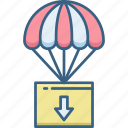 air, balloon, hot, sky icon