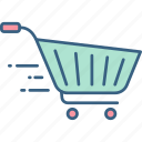 basket, buy, cart, online, shop, shopping, trolley icon