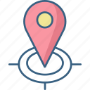 gps, locate us, location, maps, point, store, turning icon