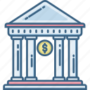 bank, banking, building, finance, financial, house, treasury icon