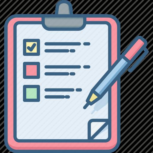 check, checklist, items, mark, question, tick icon