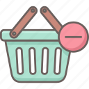 basket, cart, delete, remove, shopping icon