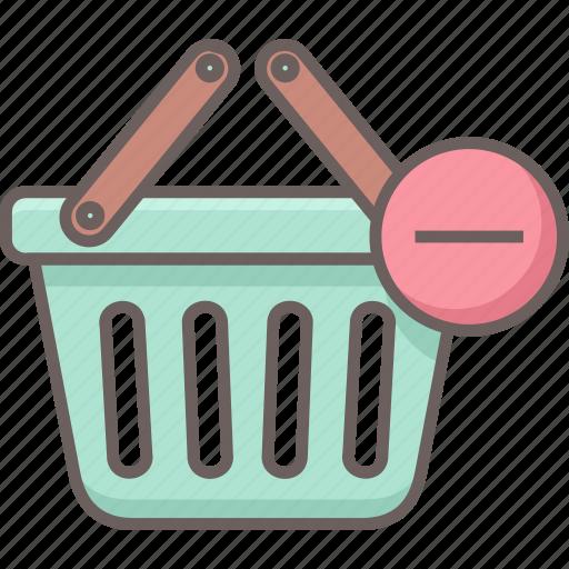 basket, cart, delete, remove, shopping icon