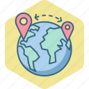 country, global, gps, locate, location, navigation, us icon