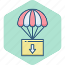 air, balloon, hot, parachute, paraglyding, skydiving, skyfall icon