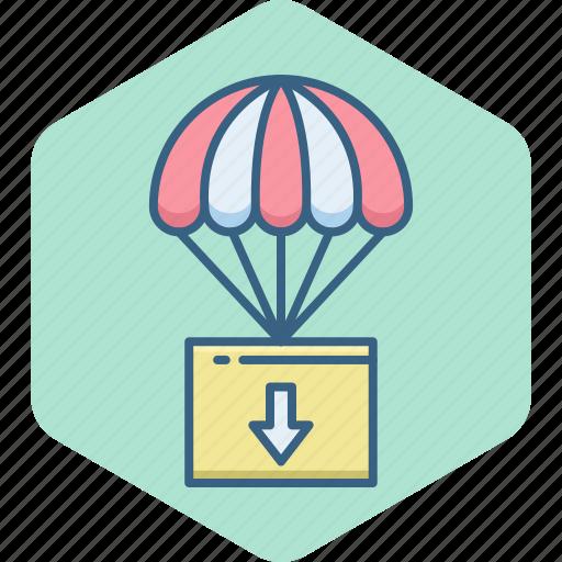 air, balloon, hot, parachute, paraglyding, skydiving, skyfall icon
