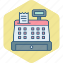 bill, billing, counter, invoice, machine, payment, receipt icon