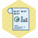 diagram, document, flow, graph, paper, report, statistics icon
