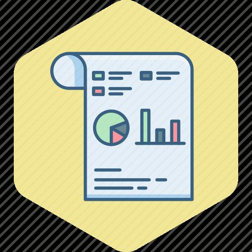 diagram, document, flow, graph, paper, report, statistics icon