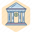 bank, banking, financial, house, institution, stock, treasury icon