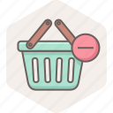 basket, buy, cart, minus, shop, shopping, store icon