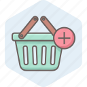 add, basket, cart, ecommerce, plus, shop, shopping icon