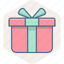 parcel, gift, box, delivery, present, package icon