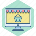 basket, cart, online, shop, shopping, web icon