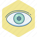 check up, eye, eye check, eyetest, look, search, vision icon
