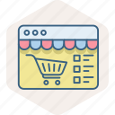 cart, items, list, shopping, site, web, website icon