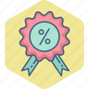discount, label, offer, percentage, price, sale icon