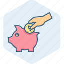 bank, budget, finance, guardar, investment, piggy, save, savings icon