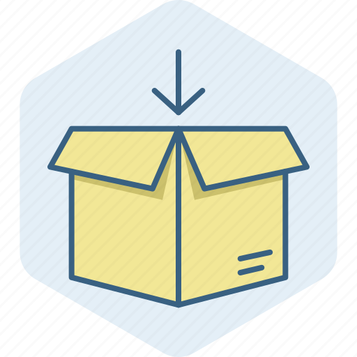 box, package, parcel, present, product, shipping icon