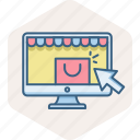 click, online, pay, per, shopping, web page, webpage icon