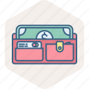 cash, currency, finance, money, payment, purse, wallet icon
