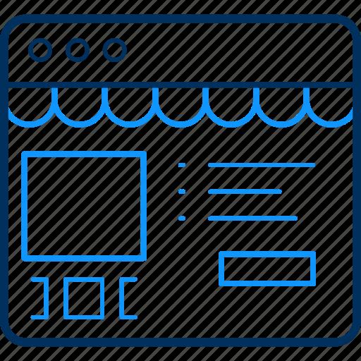 Webpage, details, website, design, layout icon