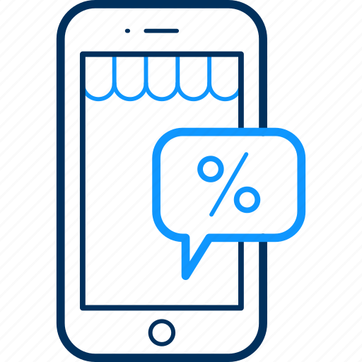 App, mobile, percent icon - Download on Iconfinder