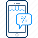 app, discount, mobile, percent, percentage icon