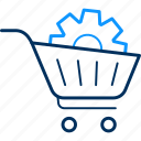 basket, cart, prefer, preferences, settings, shopping, trolley icon