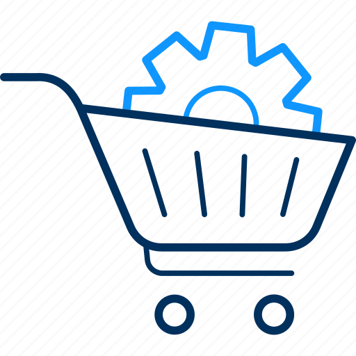 basket, cart, prefer, preferences, settings, shopping, trolley icon