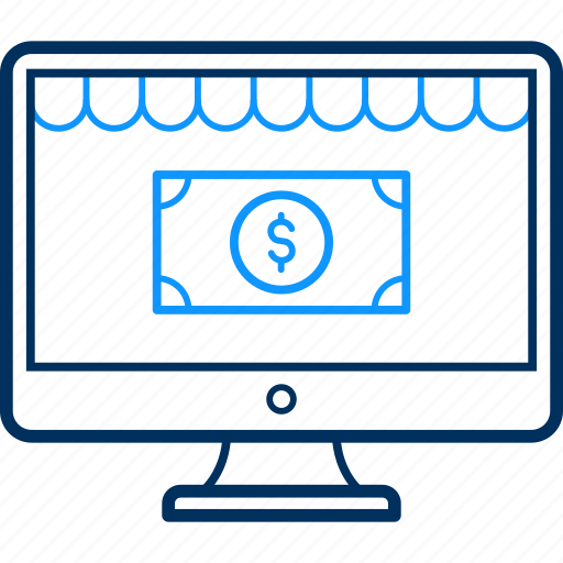 business, desktop, ideas, making, money, website icon