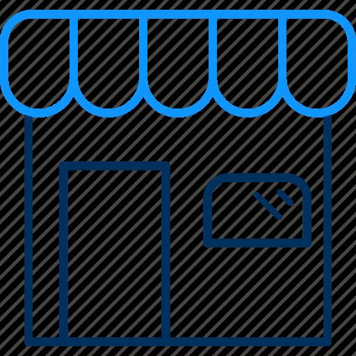 open, shop, shopping, store icon