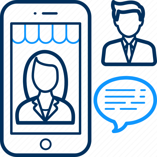 Mobile, communication, chat, conversation, interaction, feedback icon