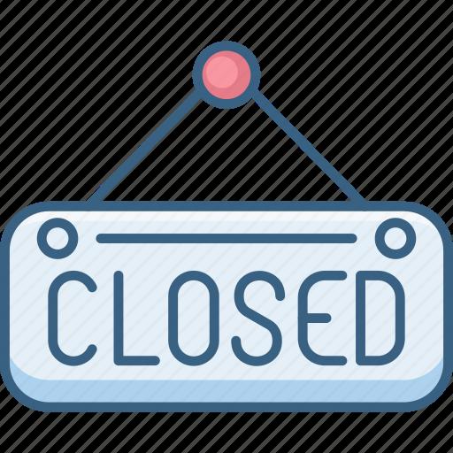 board, closed, shop, sign, store icon