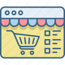 buy, cart, ecommerce, item, items, shopping, website icon